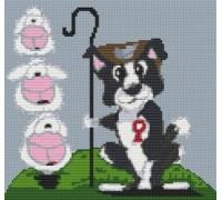 Border Collie Dog Caricature - PET-0001-K