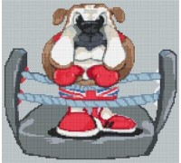 British Bulldog Caricature - PET-0002-K
