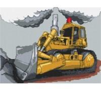 Bulldozer Caricature - KRT-0648-K