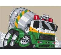Cement Mixer Truck Caricature - KRT-0135-K
