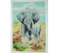 Charging Elephants - SKU LIT-3870-K - 14ct