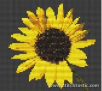 Contemporary Sunflower - SKU NAT-0006-K - 14ct