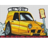 Del Boy Reliant Regal Van Caricature - KRT-0200-K