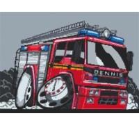 Dennis Firetruck Caricature - KRT-0117-K
