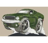 Ford Mustang GT Bullit Car Caricature - KRT-2083-K