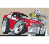 Ford Starsky and Hutch Caricature - KRT-1580-K