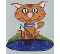 Ginger Tom Cat Caricature - PET-0008-K