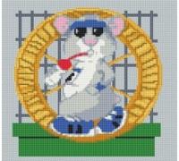 Hamster Wheel Caricature - PET-0100-K