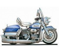 Harley Davidson Electra Glide Caricature - KRT-1127-K