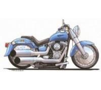 Harley Davidson Fat Boy Caricature - KRT-1577-K