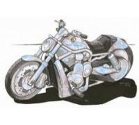 Harley Davidson V Rod Caricature - KRT-1566-K