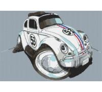 Herbie VW Beetle Caricature - KRT-1608-K