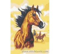 Horse and Cowboy - SKU LIT-3830-K - 14ct