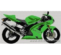 Kawasaki Ninja ZX6RR Motorbike - SKU KAS-8626-K - 14ct