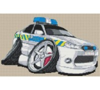 Mondeo Police Car Caricature - KRT-1362-K