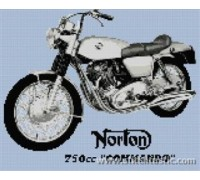 Norton Commando Motorcycle - SKU KAS-1374-K - 14ct