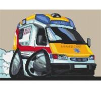 Paramedic Ambulance Caricature - KRT-0177-K