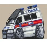 Police Transit Van Caricature - KRT-1837-K