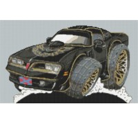 Pontiac Trans AM - Smokey and the Bandit Caricature - KRT-2084-K