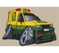 Vauxhall AA Breakdown Van Caricature - KRT-0623-K