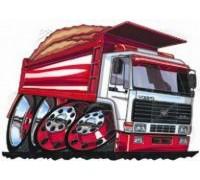 Volvo Dumper Truck Bulk Caricature - KRT-0126-K