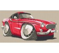 Volvo P1800 - The Saint Caricature - KRT-1638-K