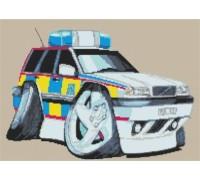 Volvo Police Car Caricature - KRT-1530-K
