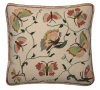 Pink and Green Butterflies Tapestry