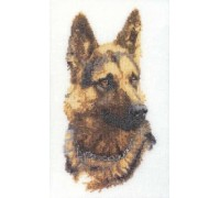Alsation Portrait Cross Stitch