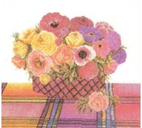 Anemone and Roses Basket
