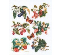 Berries and Butterflies Sampler Panel