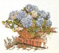 Blue Hydrangea Garden Basket