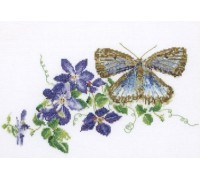 Common Blue Butterfly and Clematis