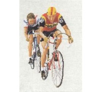 Cyclists Cross Stitch