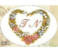 Flower Heart Initial Cross Stitch