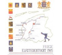 Friesland Cross Stitch Map - 1061J - 28ct
