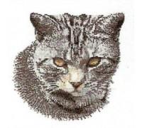 Grey Cat Cross Stitch