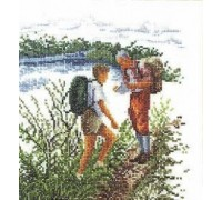 Hikers Cross Stitch