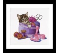 Kitten in A Sewing Basket - 736A
