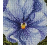 Lilac and Blue Pansy - 459A - 18ct
