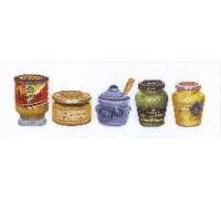 Mustard Pots Cross Stitch
