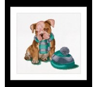 Puppy With Hat and Scarf - 733A
