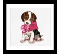 Puppy With Pink Purse - 732A