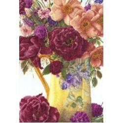 Roses in Cross Stitch