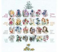 Seasons Floral Alphabet Sampler