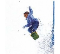 Snowboarder Cross Stitch