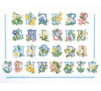 Summer Floral Alphabet Sampler