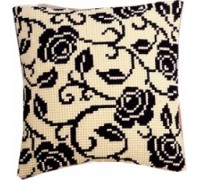 Blackwork Roses Chunky Cross Stitch - 1200/942
