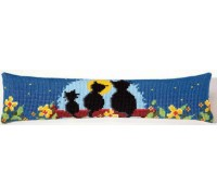 Cat Family Draft Excluder - 1235/5003