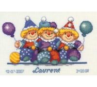 Clowns Birth Sampler - 2002\70.441